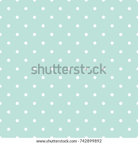 Blue And White Polka Dot Baby Seamless Vector Pattern Cute Kid Repeat Background For Fabric