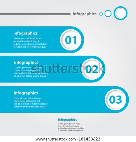 blue and white progress paper banners / can be used for infographics / numbered banners / horizontal cutout lines / graphic or website layout vector - stock vector