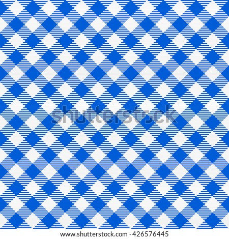 Awesome Blue And White Seamless Checkered Tablecloth. Traditional Gingham Pattern,  Checkered Fabric, Tablecloth Texture