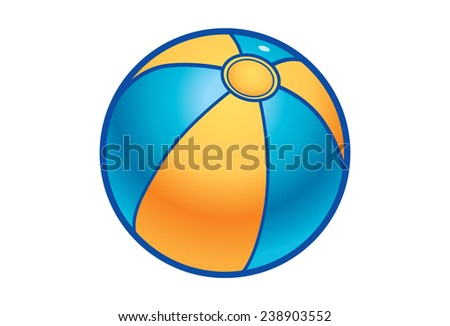 Blue and yellow ball