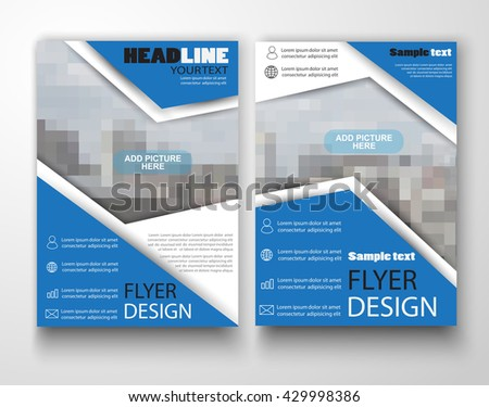 Blue Red Brochure Design Template Vector Stock Vector 443497594