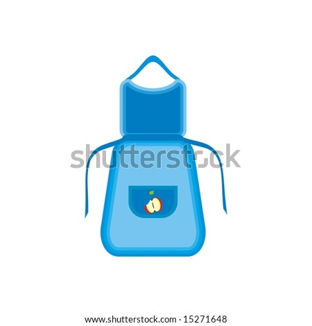 Blue apron - stock vector