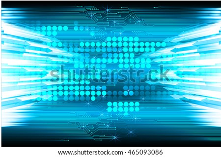 blue arrow abstract cyber future technology concept background, illustration, circuit, binary code. move motion speed. vector. sci-fi