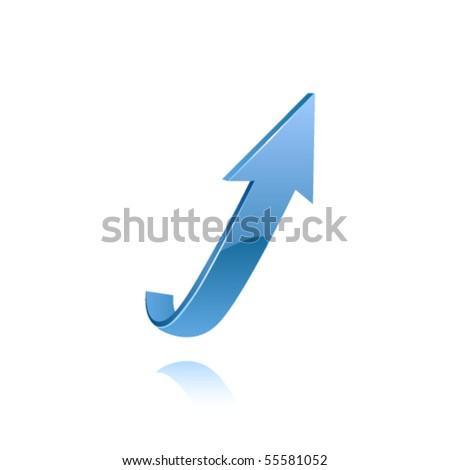 Blue arrow. Vector - stock vector