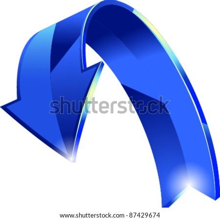 Blue arrow vector - stock vector