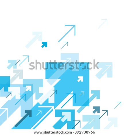 Blue Arrows Up. Motion Up. Successful Concept Cover Design. Good for financial annual cover design, brochures, booklets etc.  - stock vector