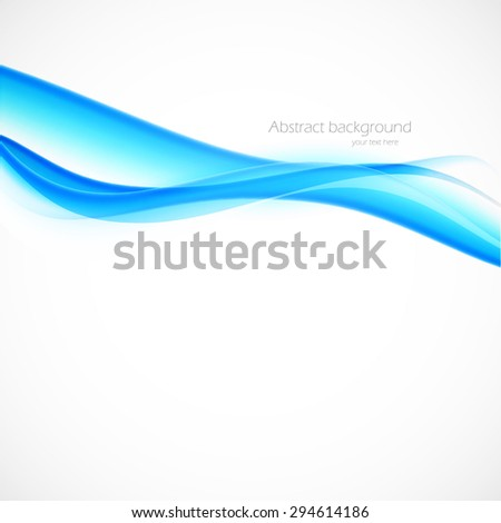 Blue background in wave style vector illustration - stock vector