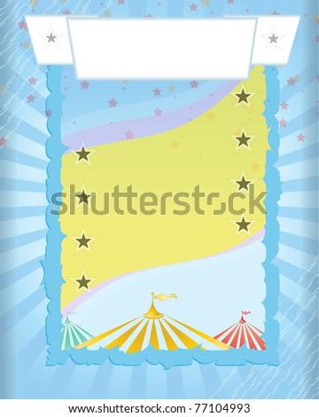 blue background retro Circus poster - stock vector
