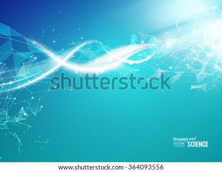 Blue background with DNA. - stock vector