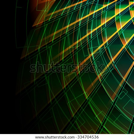 blue background with line - stock vector