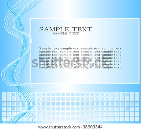 blue background with square and lines