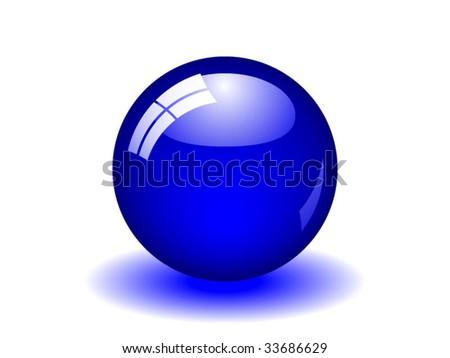 Blue Ball - stock vector