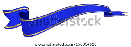blue banner - stock vector