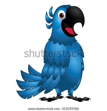Blue Bird - Friendly Rio Cartoon Vector - stock vector