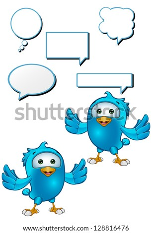 Blue Bird - Holding Arms Out - stock vector