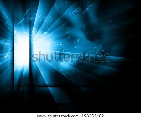 blue blast - stock vector