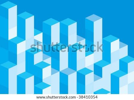 blue blocks - stock vector
