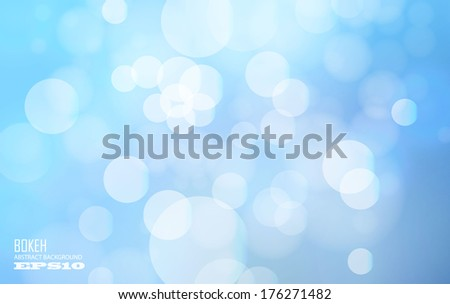 blue bokeh abstract background - stock vector