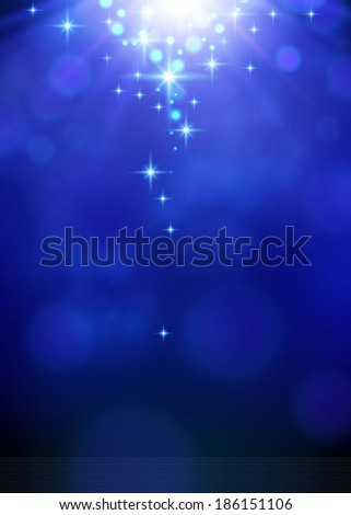 blue bokeh burst festive background