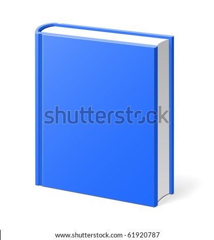 Blue book isolated - stock vector