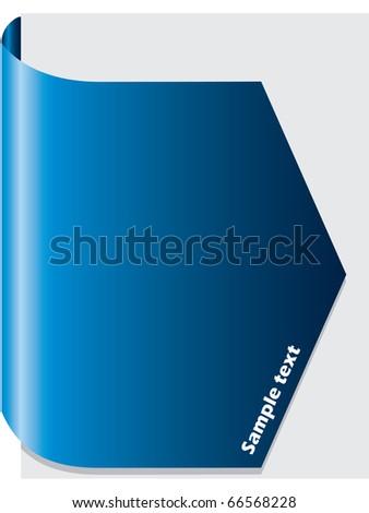 Blue brochure design - stock vector