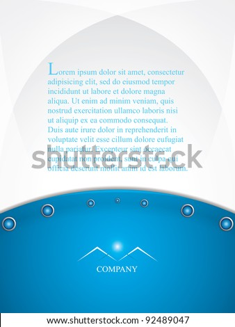Blue brochure design background template