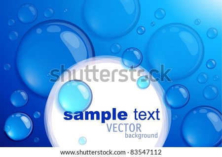 Blue bubble vector background. - stock vector