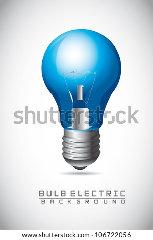 blue bulb electric over gray background. vector illustration - stock vector