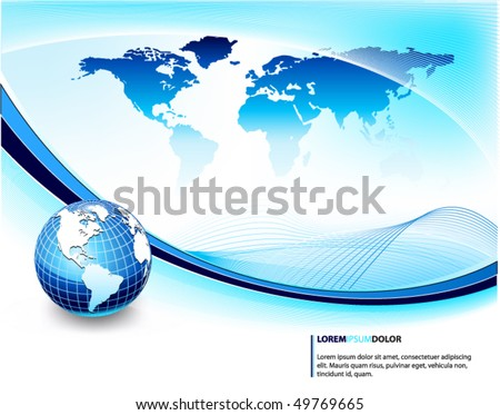 blue business background - stock vector