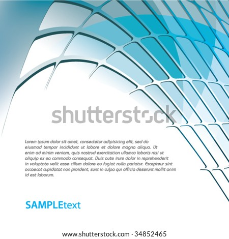 Blue business background design series - stock vector