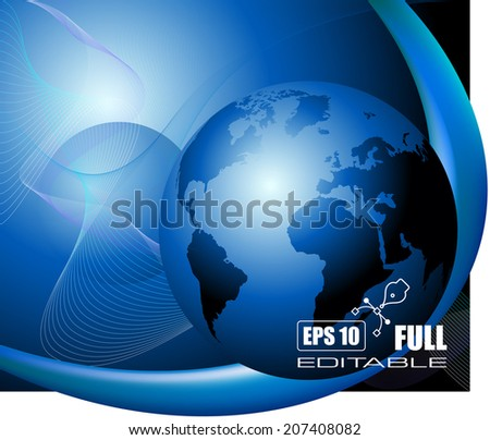 Blue business background - vector illustration - stock vector