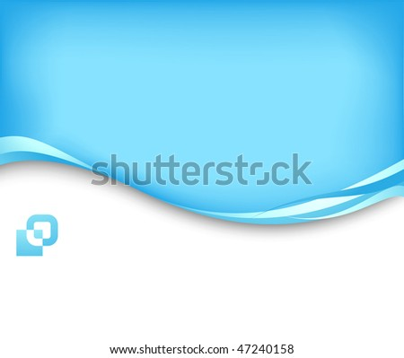 Blue business card template clipart stock vector 47240158 shutterstock blue business card template clip art reheart Gallery