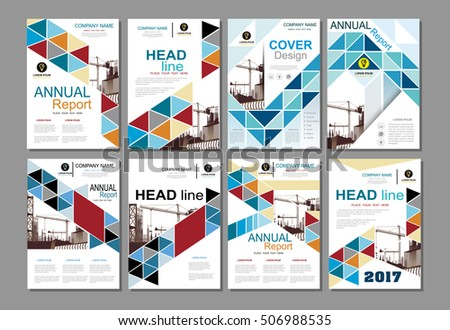 Blue Business Construction Annual Report Brochure Stock Vector