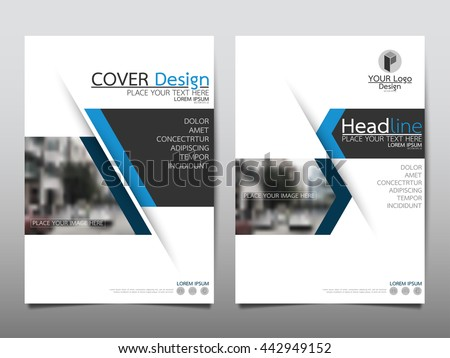 Blue annual report brochure flyer design stock vector for Technology brochure templates