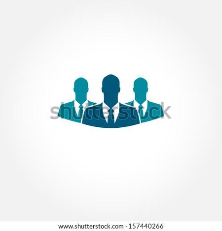 Blue businessman vector icon - stock vector