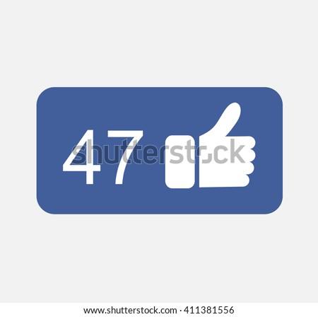 Blue Button follower Like,follower Like Icon Vector, follower Like Icon JPG,follower  Like Icon JPEG,follower Like Icon EPS,follower  Like Icon Facebook design.Vector illustration eps 10 - stock vector