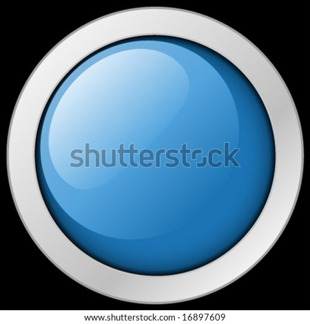 Blue button or icon.  Vector Illustration