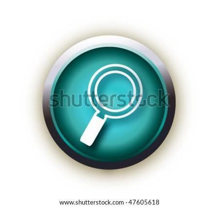 blue button vector - stock vector