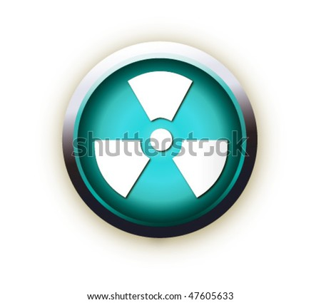 blue button vector - stock vector