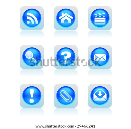 blue buttons - stock vector