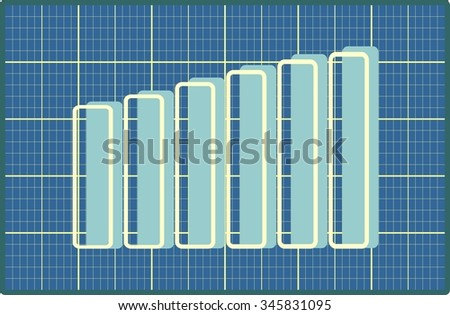 Blue chart diagram blueprint design business stock vector 345831095 blueprint design business progress chart relative for business bars silhouettes malvernweather Images