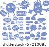 blue chat & speech signs. vector - stock vector
