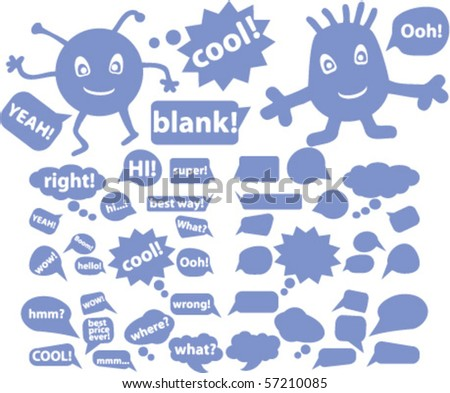 blue chat & speech signs. vector - stock vector