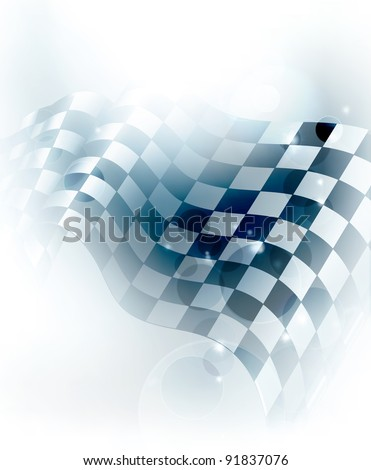 Blue Checkered Background, 10eps - stock vector