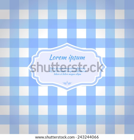 Blue checkered picnic tablecloth. Seamless pattern. Vector illustration - stock vector