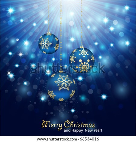 Blue Christmas Background. - stock vector