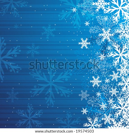 blue christmas background, vector illustration - stock vector