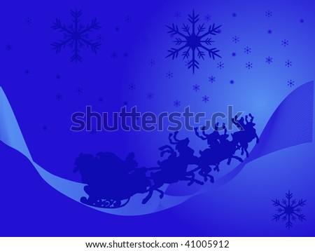 Blue christmas background - vector illustration - stock vector