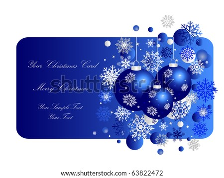 Blue Christmas Banner. Eps10 Vector Illustration