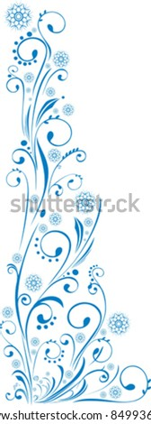 Blue Christmas design element isolated on White background. Vector illustration - stock vector